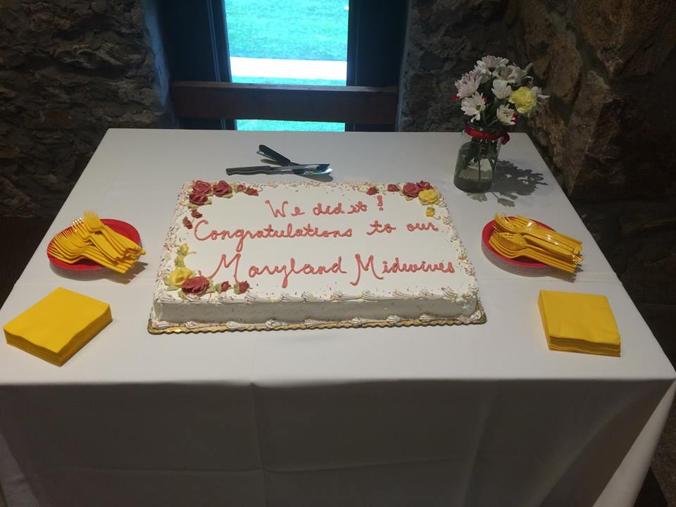 Cake table at 2015 celebration party