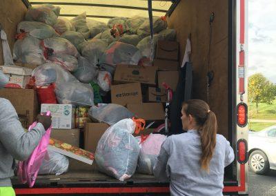 Fall 2017 Savers FunDrive loading truck